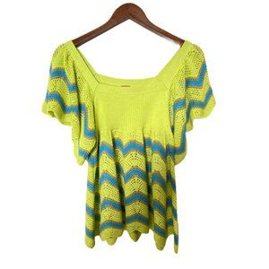 Free People Crochet Knit Top Sz S